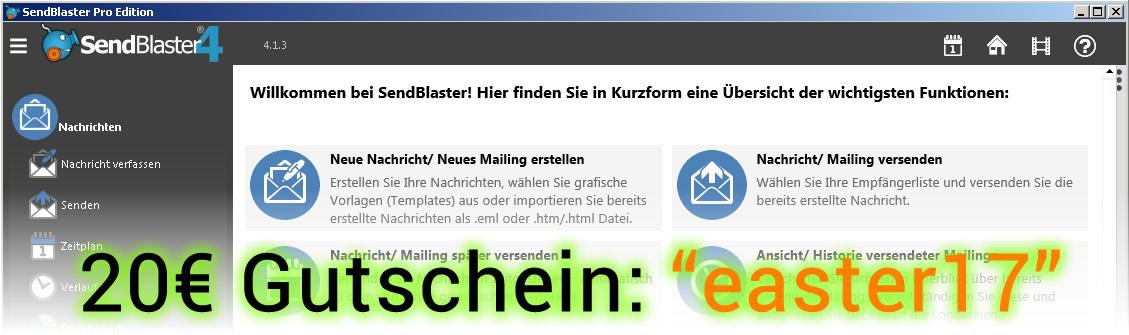 Osterwuensche und Ostergruesse per E-Mail Newsletter versenden